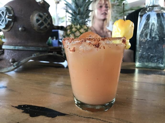 Mango Mezcal Margarita and my favorite bartender
