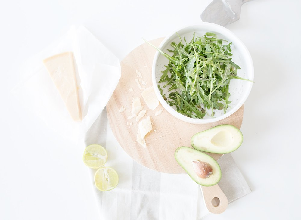 Nordic Honey_Arugula Salad with Avocado, Parmesan and Lime & Honey Dressing_Prep.jpg