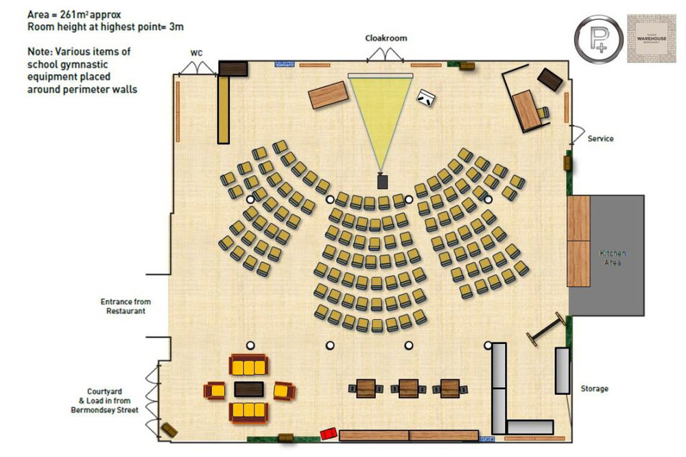 Tanners Theatre floorplan