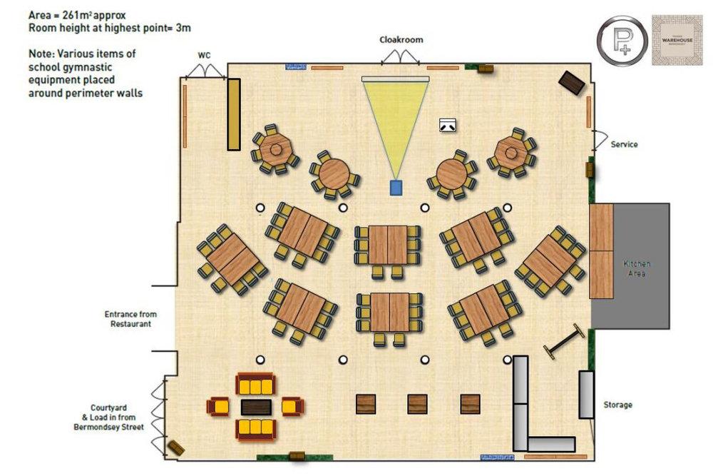 Tanners Cabaret floorplan