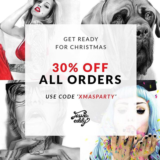 Only a month until Christmas! 30% off all prints, apparel and stickers :) www.lauraeddy.com.au/shop