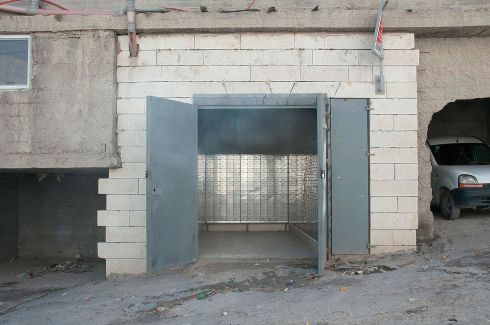 A photo of the mail distribution center in Issawiya