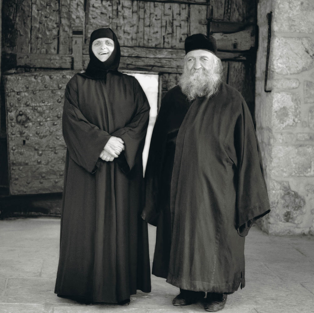 Greek Orthodox Nun and Monk in Jerusalem.