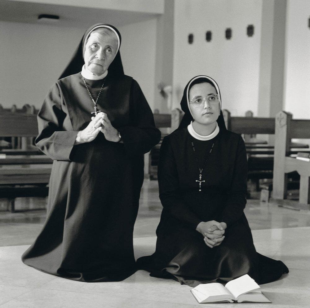 Sister Mariange el Mou' Alem and Sister Anastasia Moussalam, Rosary Sisters, Jerusalem.