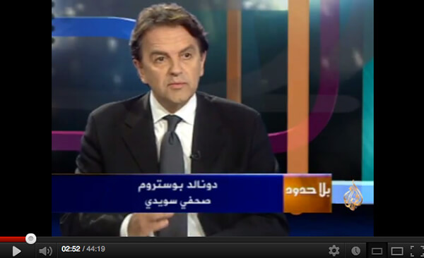 Interviewed by Al-Jazeera