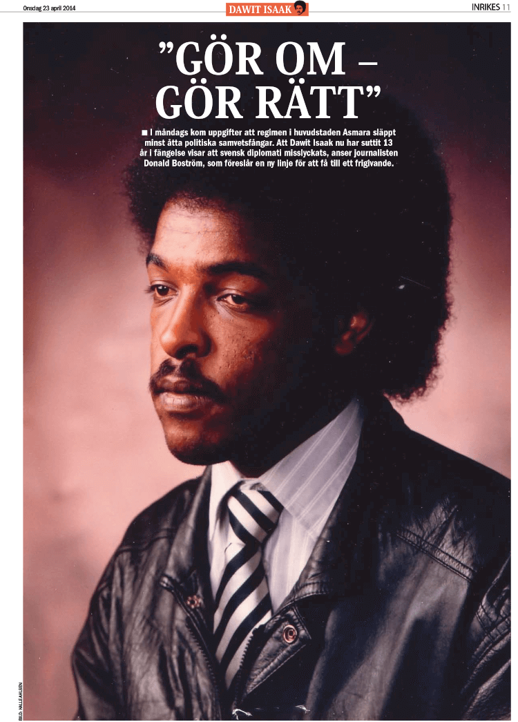 Eritrea and Dawit Isaak. Special coverage in ETC, April 2014. Click to read [Swedish]