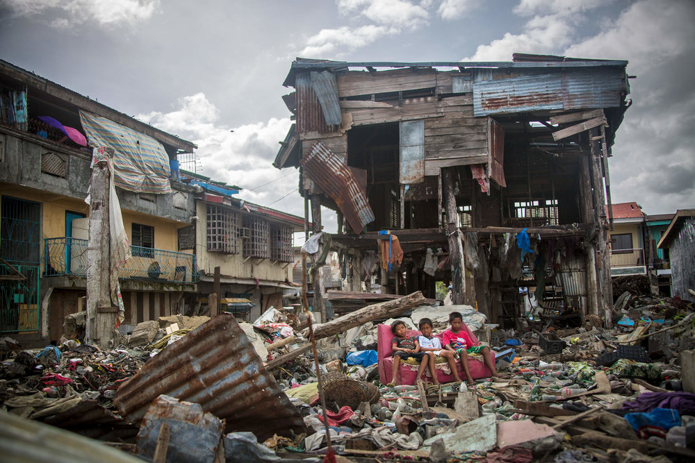 The village of Basey on the island of Samar after Typhoon Haiyan November 2013.