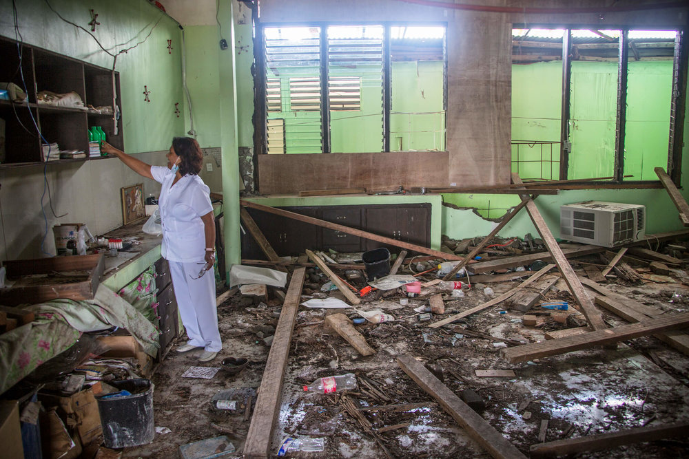 Hospital of Basey on the island of Samar after Typhoon Haiyan November 2013.