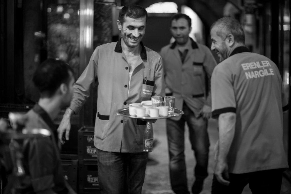 Café Erenler Nargile in Istanbul, Turkey.