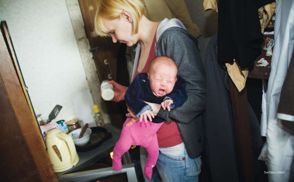 Ukraine. Svetlana, mother of four children has diagnosed HIV.