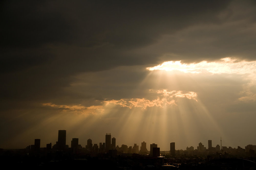 Skyline of Johannesburg, South Africa.
