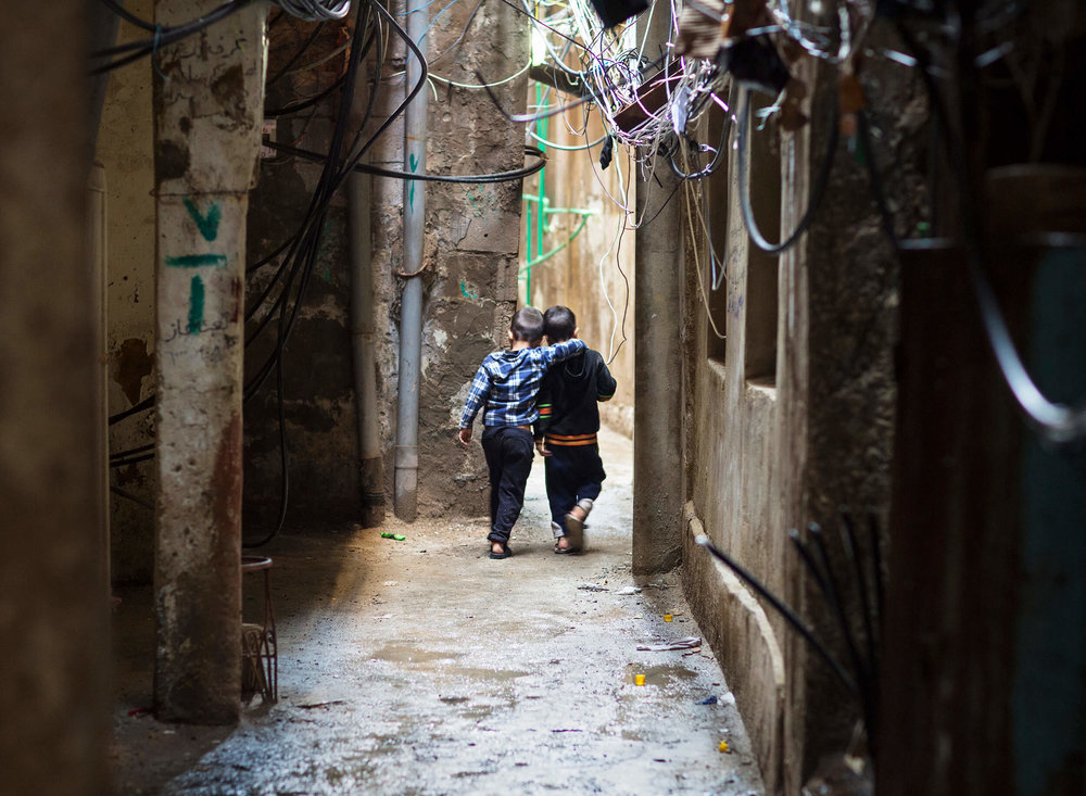 Lebanon. Refugee camp Shatila Beirut 2016.