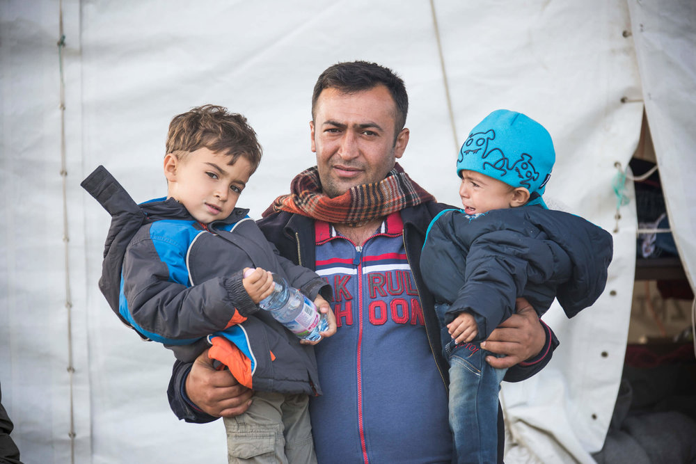Hungaria, October 2015. Hegyeshalom. Zuhir Mahmoud, 33 years from Syria, two sons,  1.5 year and 5 years. Three kilometers walk to the border with Austria, to Nickelsdorf