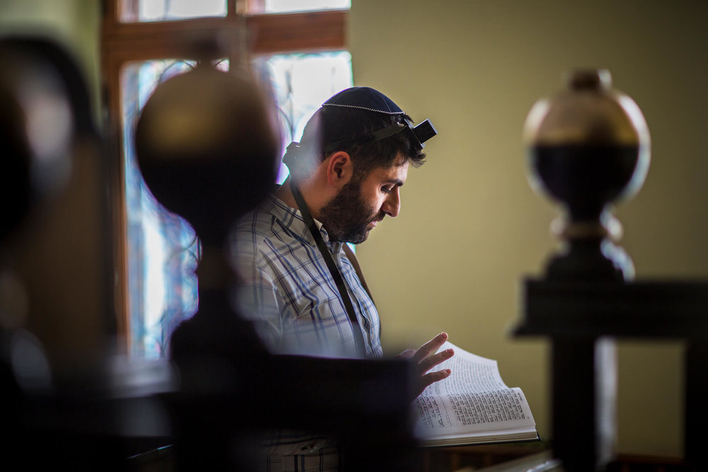 Aaron prays in the synagogue in Simferopol, the capital of Crimea.