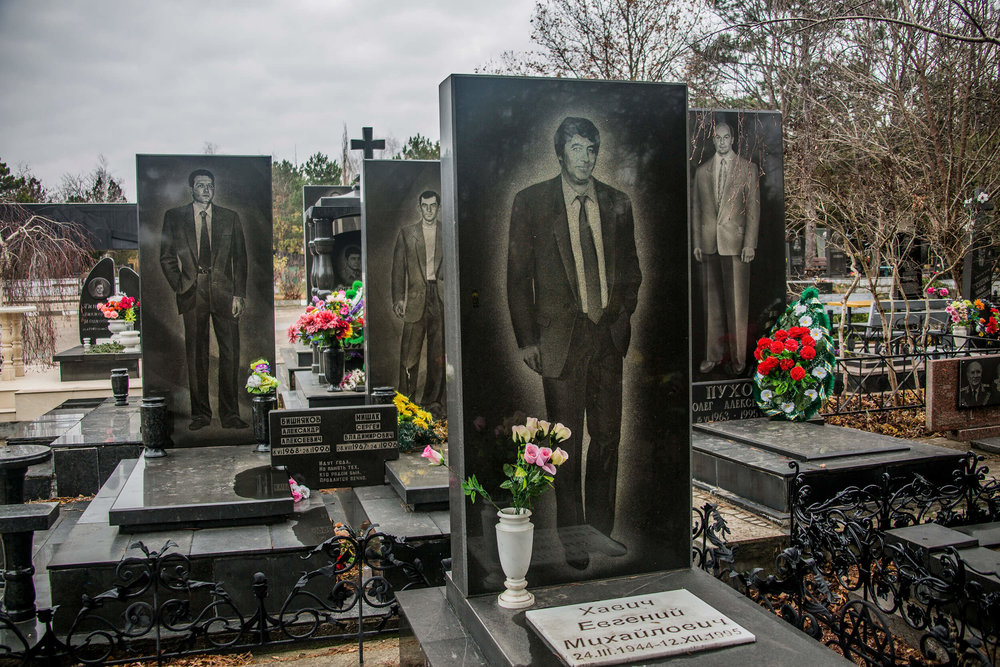 Burial place for mafia leaders in Crimea.