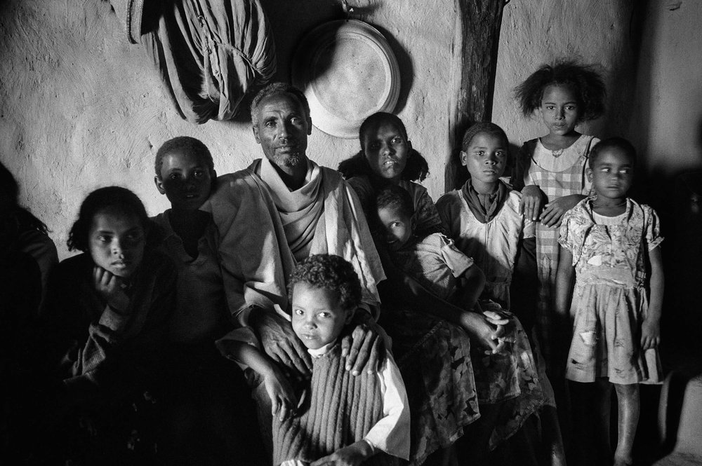 Farmer family in the small village of Mai weini in Eritrea.