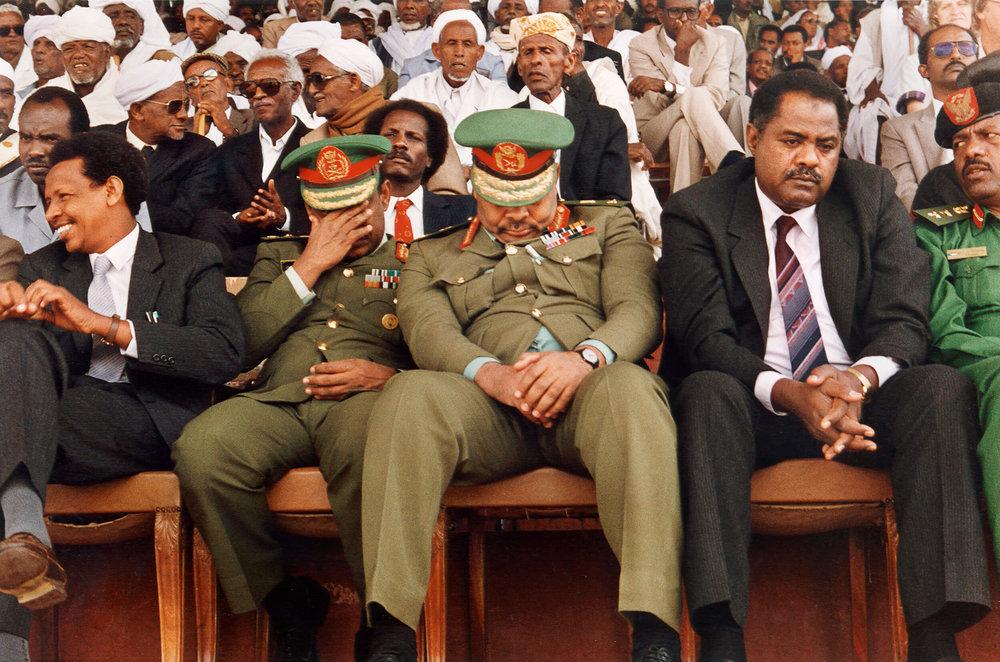 1991 Sudanesiska generaler firar Freden mellan Eitioien och Eritrea .jpg