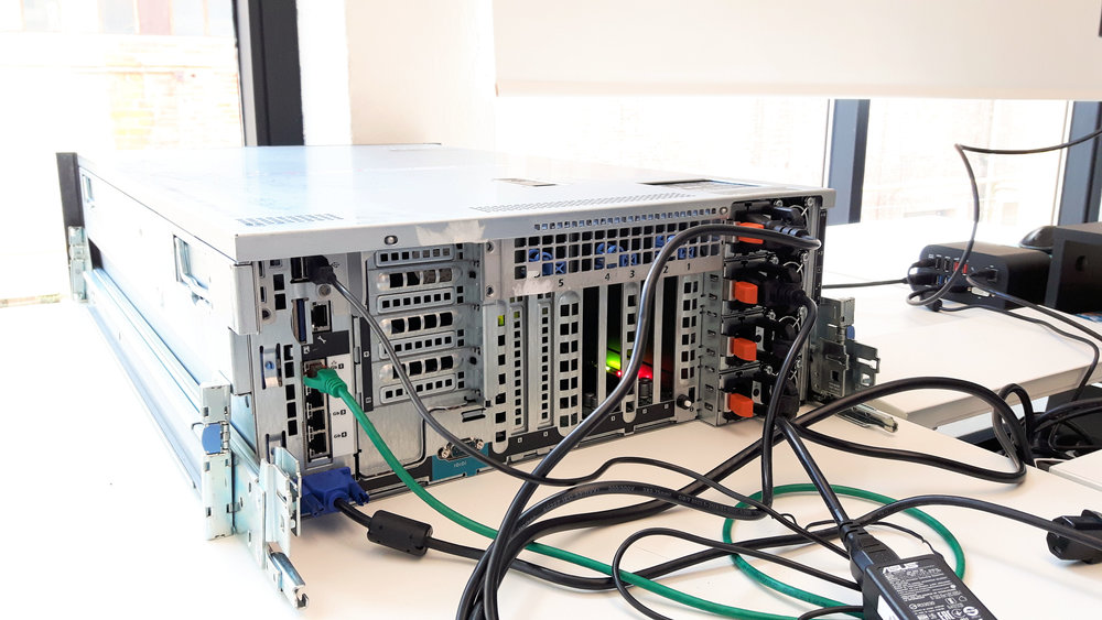 Bench-testing each server before mounting it on the rack