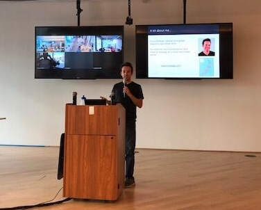 Presenting at Opendoor in San Francisco, 2018.