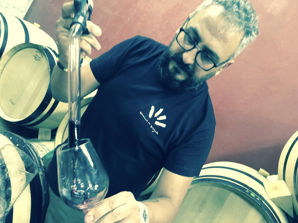 Tasting Cadario from barrel with Nico; always a pleasure! profuse structure!