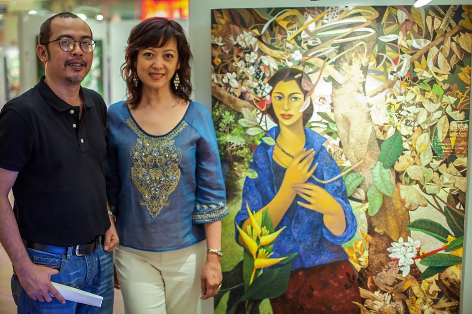 Narciso Torres with Filipino artist Alegre