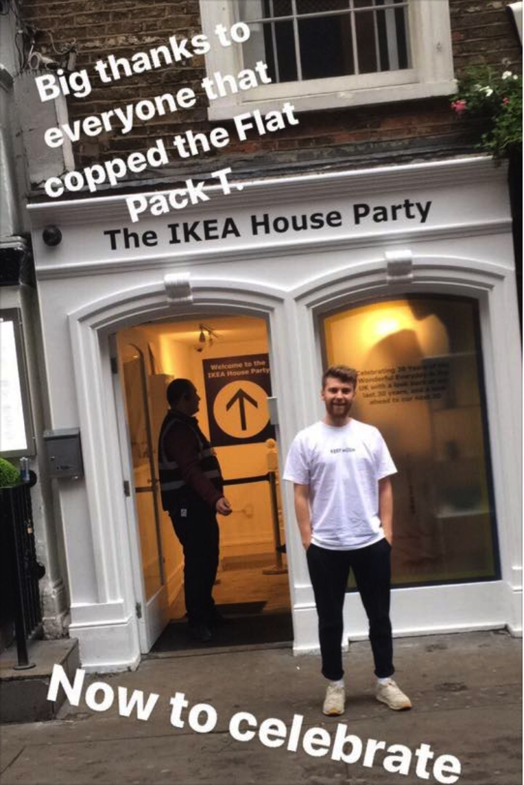 AFTER PARTY - The whole campaign was opportunistically timed around an actual 'Ikea House Party', allowing us to create even more content as we explored Ikea through the ages.