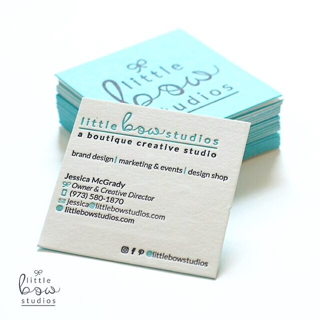 Little Bow Studios Business Cards (Duplex Letterpress Printing)