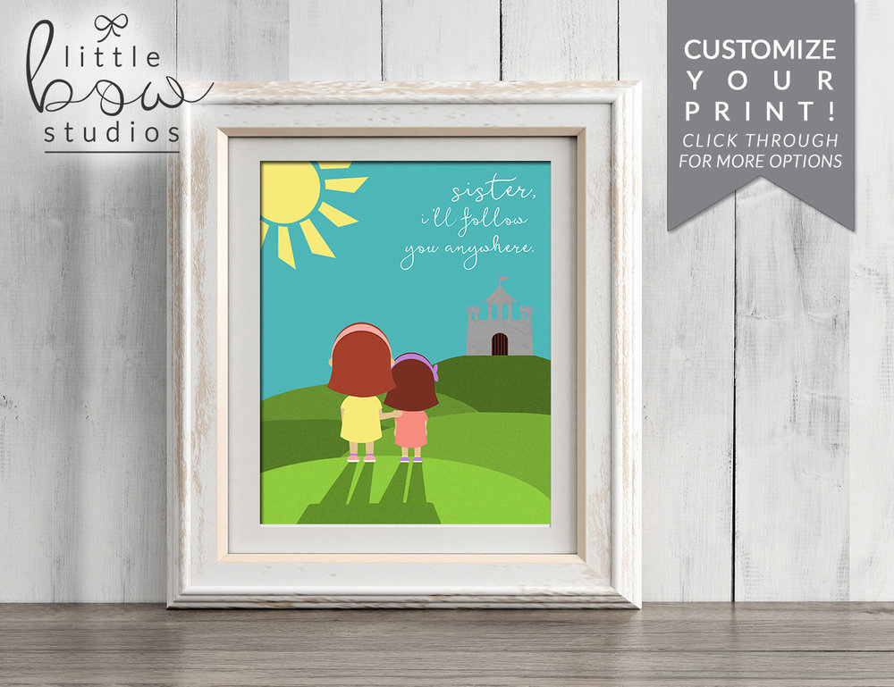 Printable Art: Sibling Print, Brother and Sister Room Decor, Baby ...