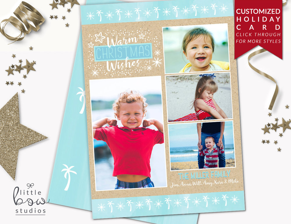 Holiday Photo Card: Family Vacation Christmas Card, Family Photo ...