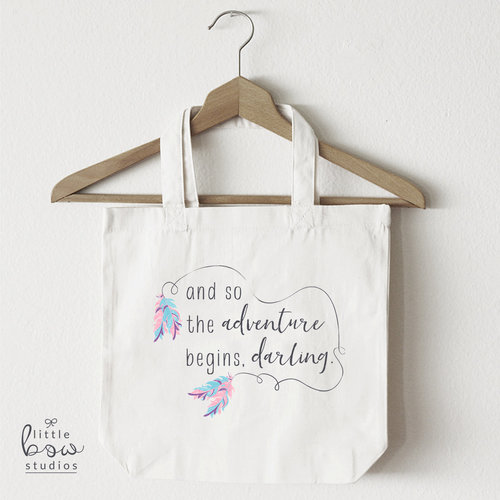 boho chic feather tote bag and so the adventure begins darling