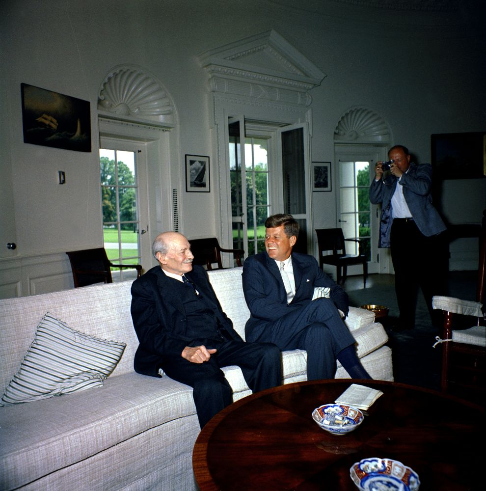 Clement Attlee and John F. Kennedy Source: http://www.jfklibrary.org/Asset-Viewer/Archives/JFKWHP-1961-05-16-B.aspx