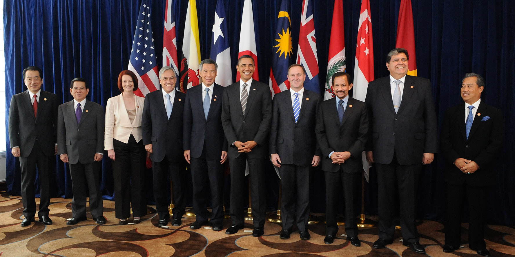 Leaders of prospective member states at a TPP summit in 2010 Source: https://en.wikipedia.org/wiki/Trans-Pacific_Partnership
