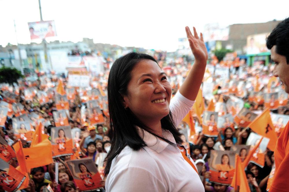 Keiko Fujimori at a rally. Source:  playbuzz.com