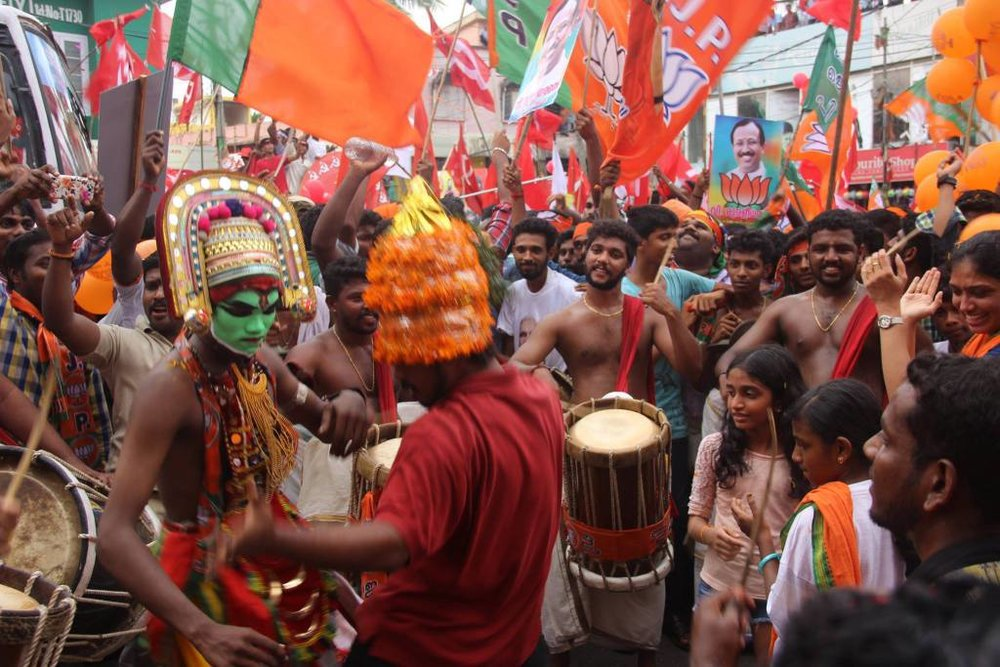 A BJP election rally in Kerala. Source:  http://thewire.in