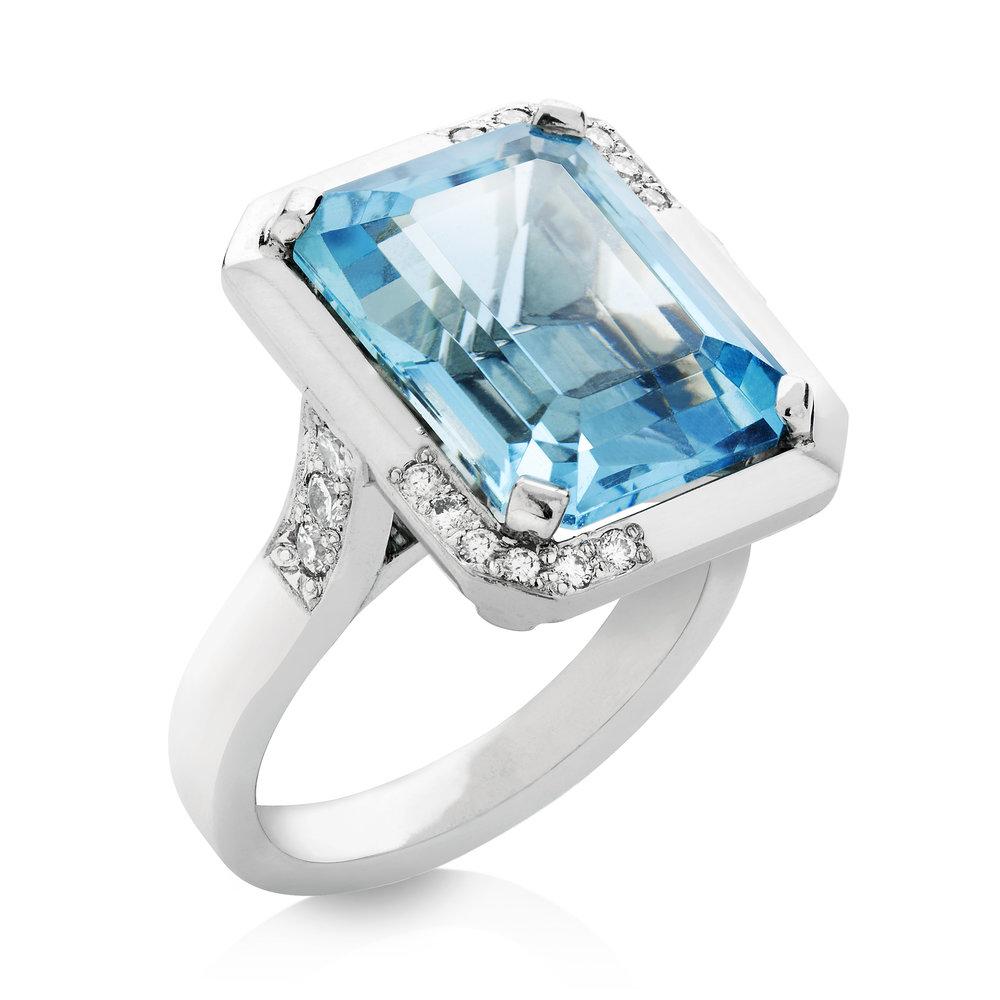 Aquamarine and diamonds in platinum cocktail ring.jpg