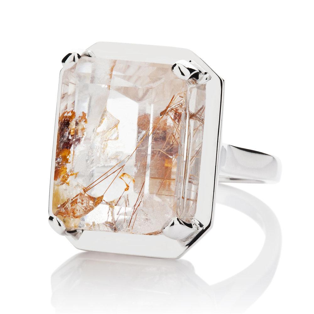saffron rutilated quartz silver cocktail ring.jpg