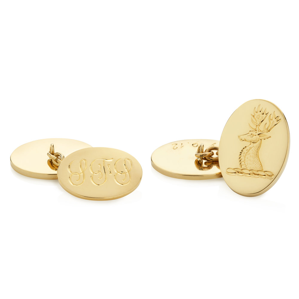 Gold Crest Engraved Cufflinks.jpg