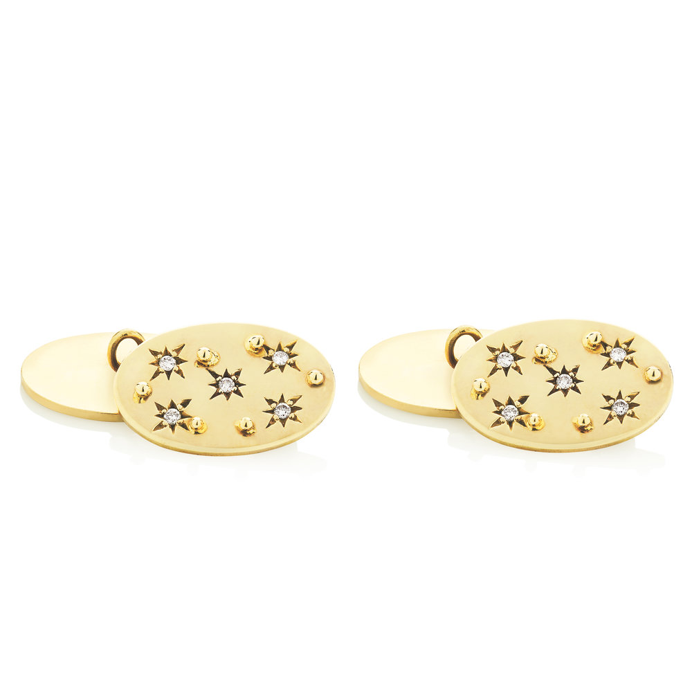 Gold Star-set Diamond Cufflinks.jpg