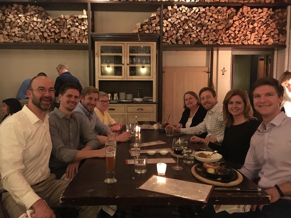 """2018, Team Dinner after """"State of Downtown Durham"""" Event"""