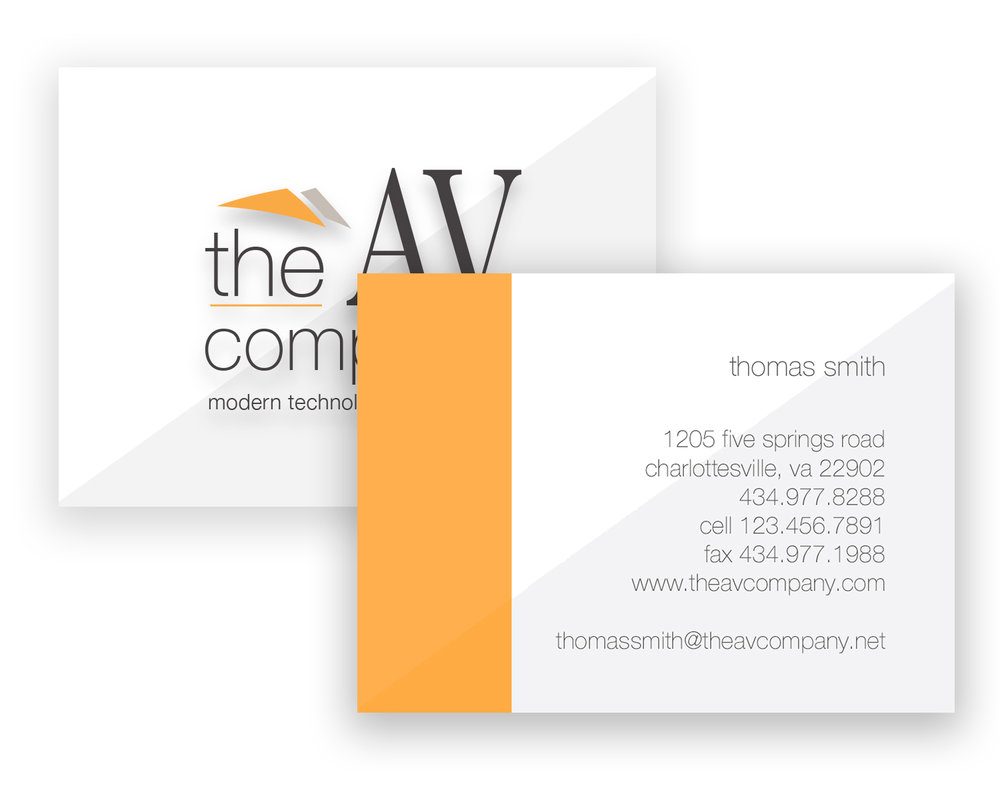 THE AV COMPANY: BUSINESS CARD DESIGN(LOGO BY WATERMARK DESIGN)