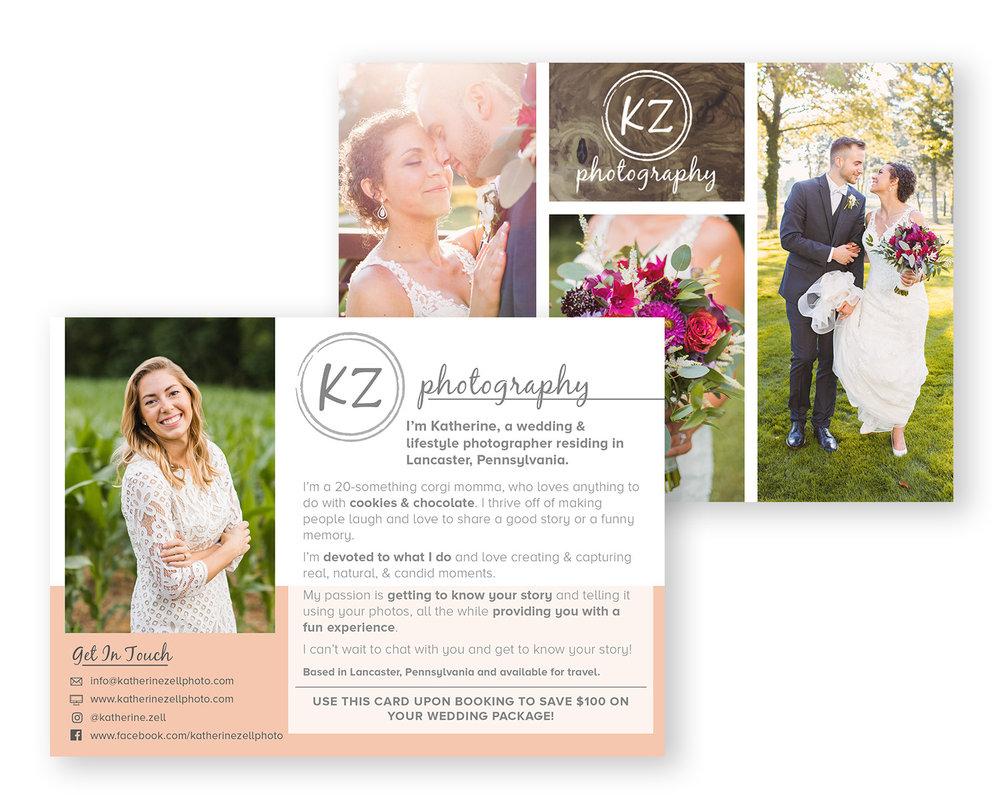 KATHERINE ZELL PHOTOGRAPHY: RACK CARD DESIGN