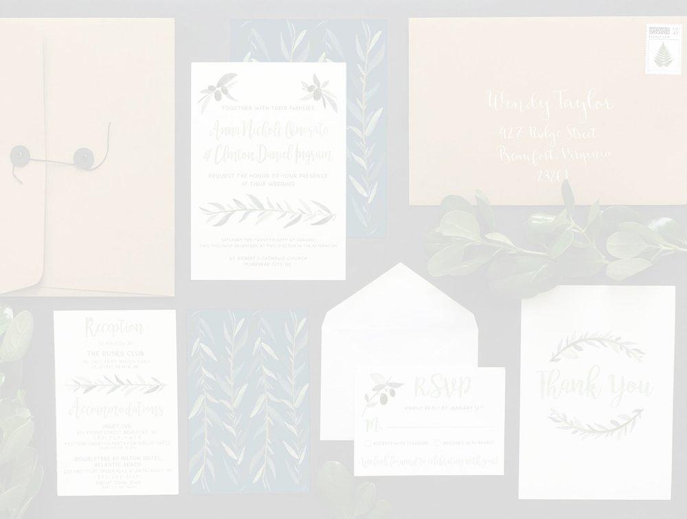 CUSTOM STATIONERY - WEDDING & SPECIAL EVENT INVITATIONS