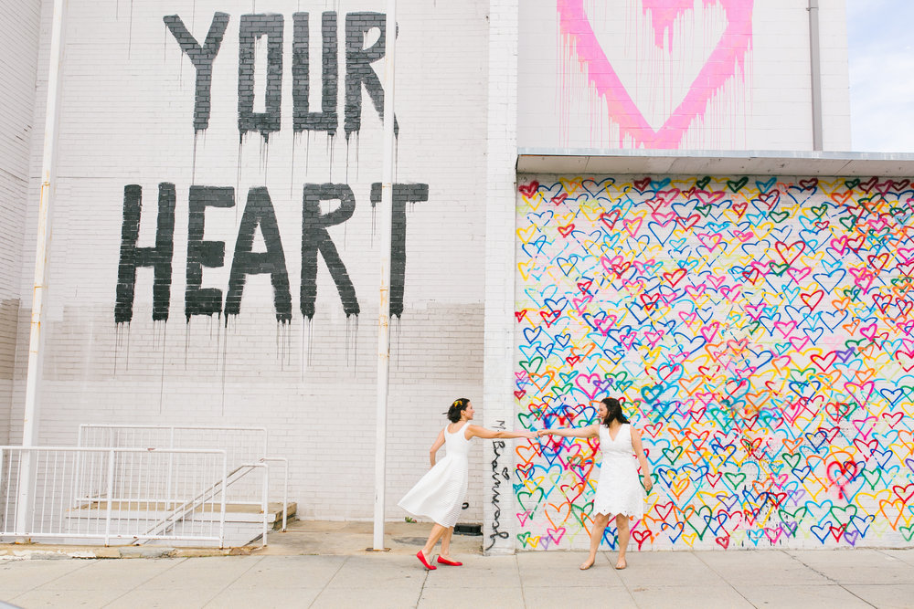 Washington DC Mural Wedding Photo