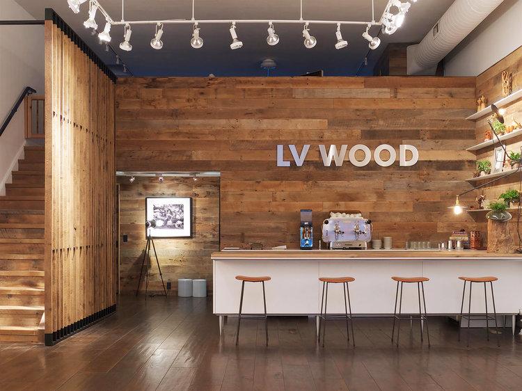 lv-wood-wall-and-custom-stairs - LV Wood €� ANALOG MODERN
