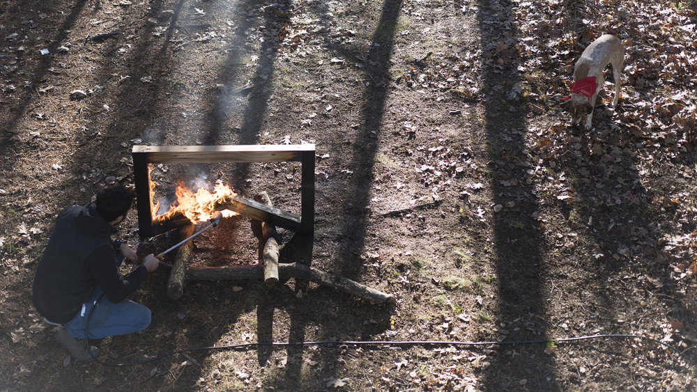 BLACKENING THE BUTTERFLY TRESTLE BASE UPSTATE