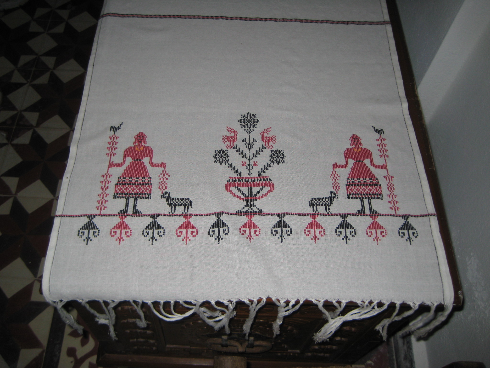 handwork with goddess motif