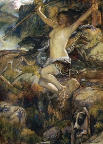 Diana of the Hunt by John Byam Shaw