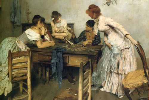 La Chiromante (The Card Reader) by Ettore Tito, 1886