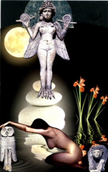 Inanna, SoulCollage® card