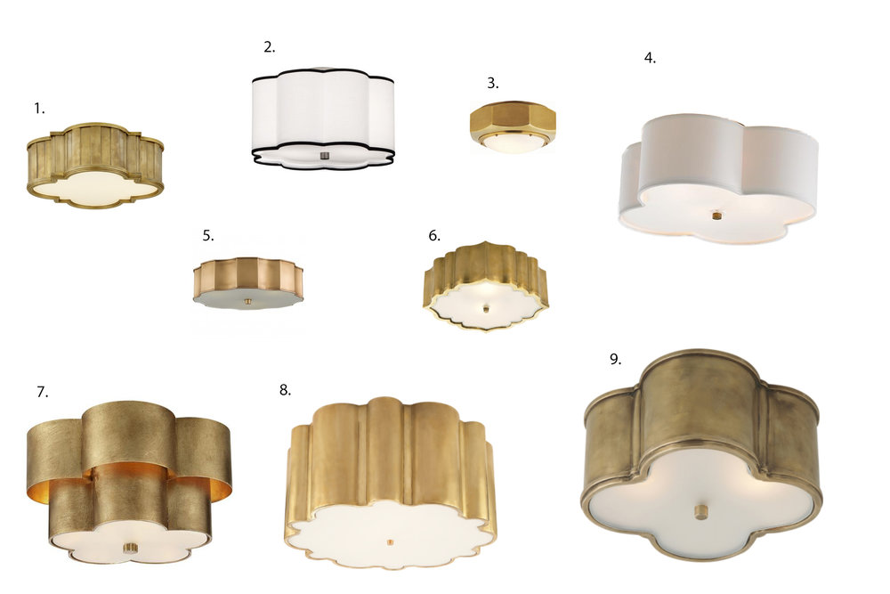 Ikea Hack Diy Gold Flush Mount Light Kelly Boyd Design